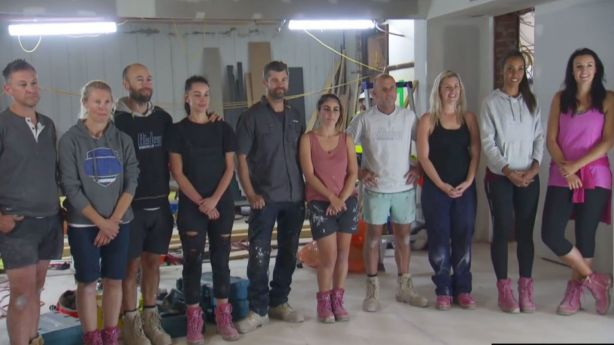 The contestants waiting for a verdict. Photo: Channel Nine