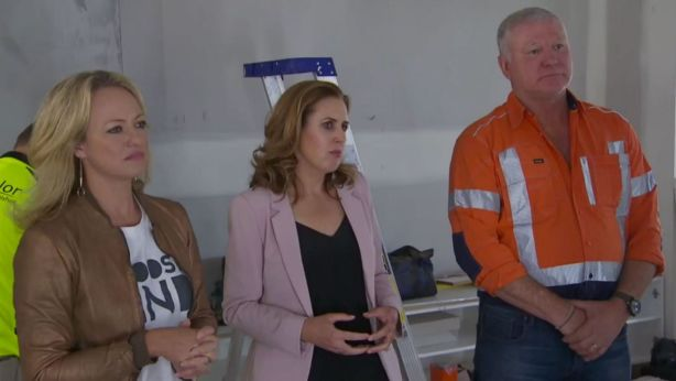 Shelley Craft, Alice Stolz and Scott Cam. Photo: Channel Nine