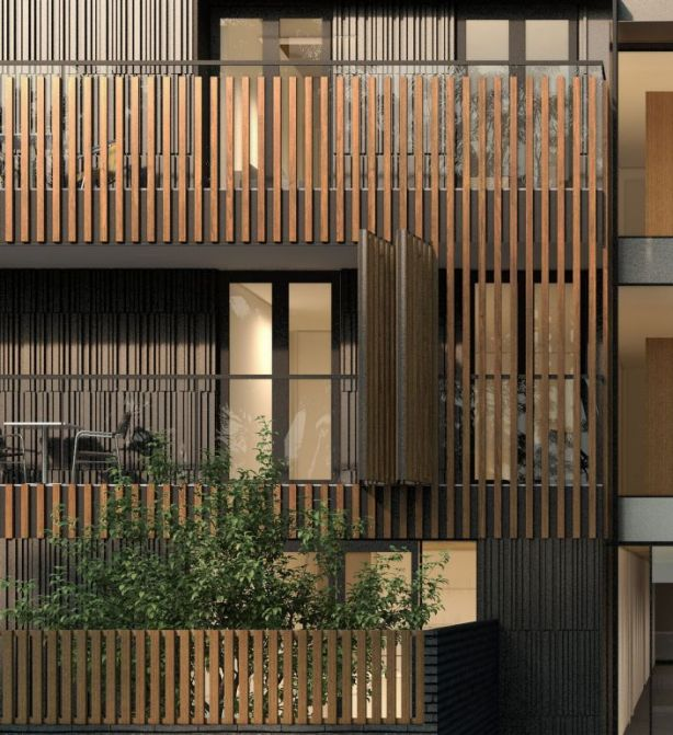 The BowerBird Life apartments have averaged a Nationwide House Energy Rating Scheme star rating of 8.1 out of 10. Photo: k20 Architecture