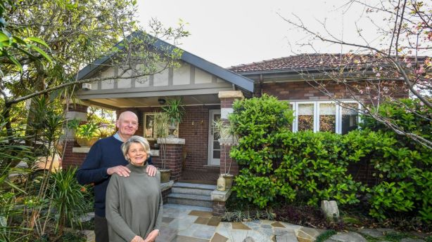 Sellers Mary-Ellen Crowley and Tig Crowley will put their Willougby home of a decade up for auction this month, so that they can downsize. Photo: Peter Rae