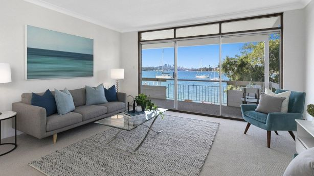 An apartment with water views at 12/106 St Georges Crescent, Drummoyne, sold shortly after passing in at auction.