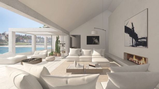 The DA-approved amalgamation of the three North Bondi apartments was designed by architect Nick Tobias. Photo: Supplied