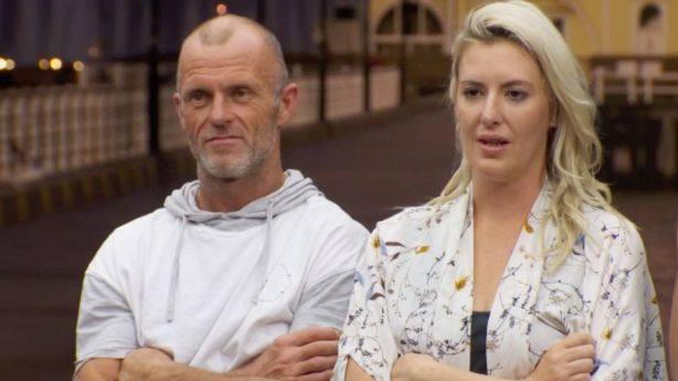 Jess and Norm copped the lowest score from Shaynna Blaze for their living and dining rooms. Photo: Channel Nine/The Block