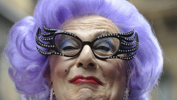 Dame Edna has her own CBD lane. Photo: Mick Tsikas