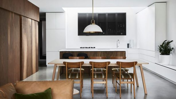 There is a sense of robustness to the interior of this family home. Photo: Sharyn Cains