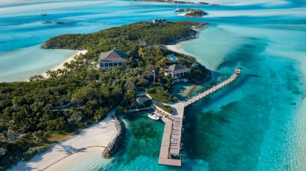 Knight Frank is marketing Little Pipe Cay, a private island in the Bahamas. Photo: Supplied