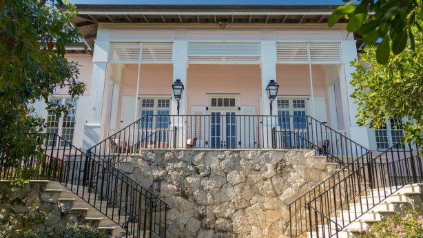 The island has a sumptuous, nine-bedroom main residence. Photo: Brett Davis