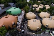 Japan's quirky, quake-resistant dome houses prove a big draw