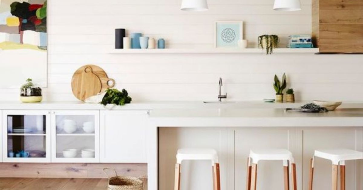 How to turn outdated wood panelling into a contemporary feature
