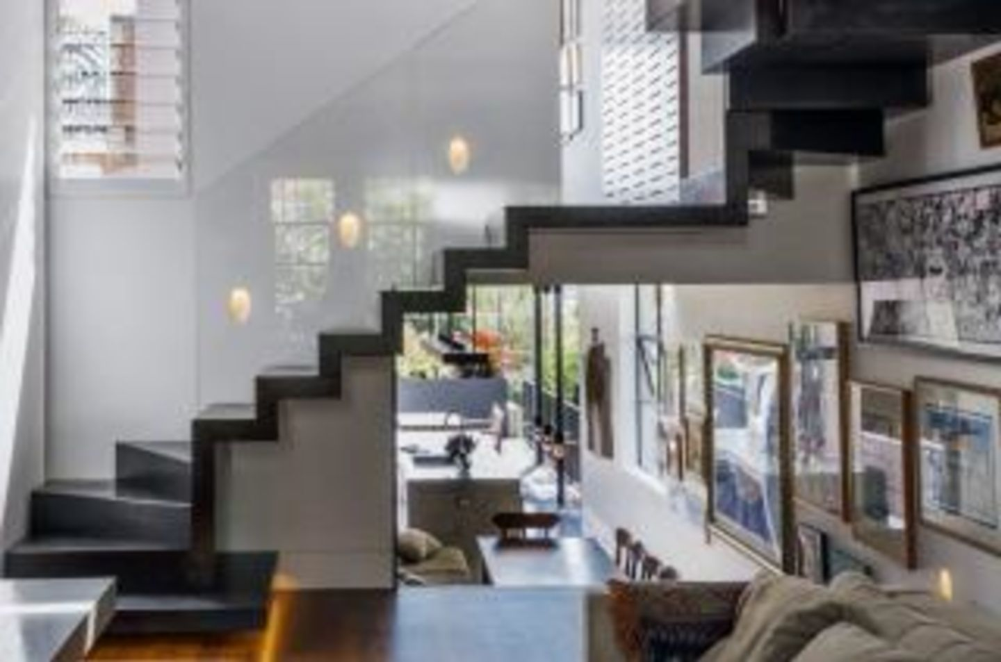 Annabelle Chapman Architect designed a steel staircase to connect the top four levels at Tathra, Paddington.