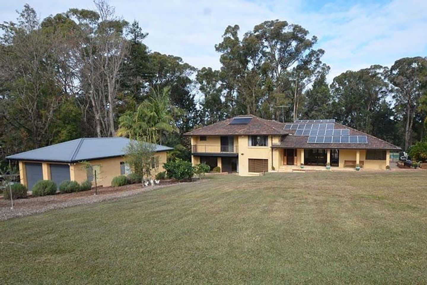This five-bedroom home on Hawkesbury Road in Winmalee is for sale for offers over $999,950.