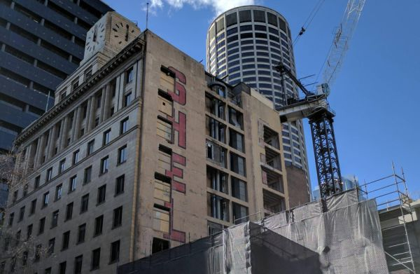 Demolished Sydney building uncovers painted signs from the city