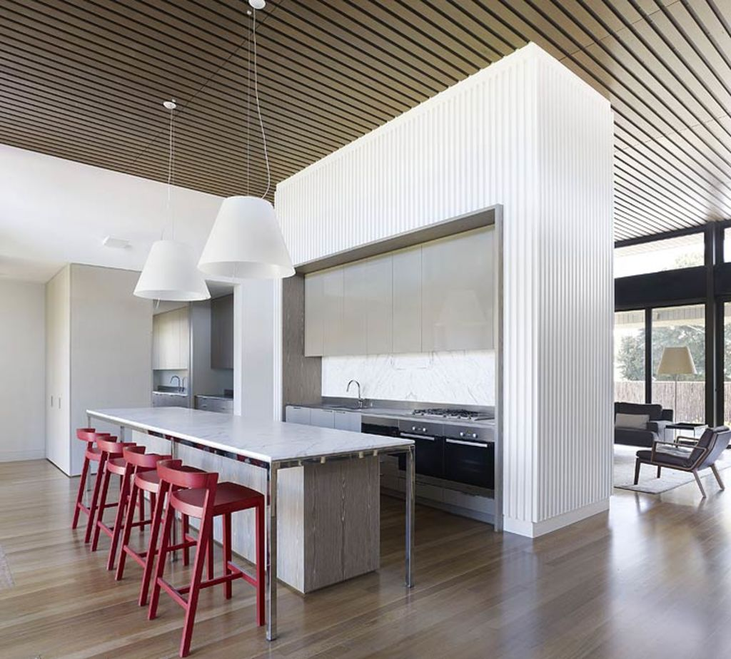 The owners of this Barwon Heads house stuck to a low-key single story look.