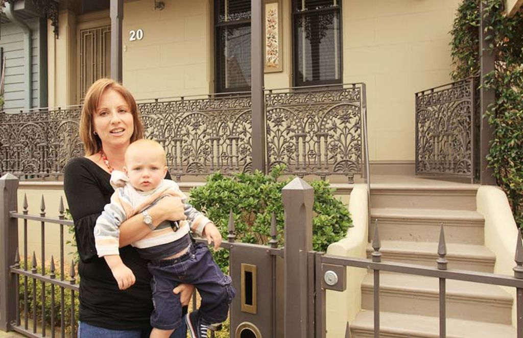 Informed ... Loula Papasoulis with her son Dean Thomas outside their Rozelle house. Photo: Steven Siewert