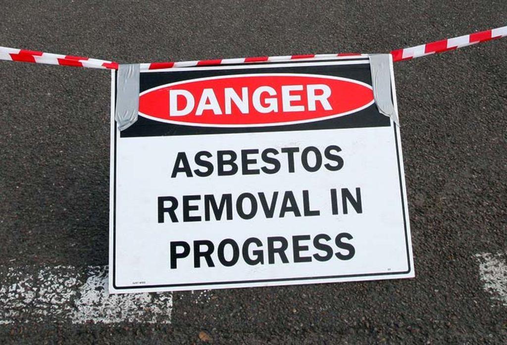 Another asbestos sign.