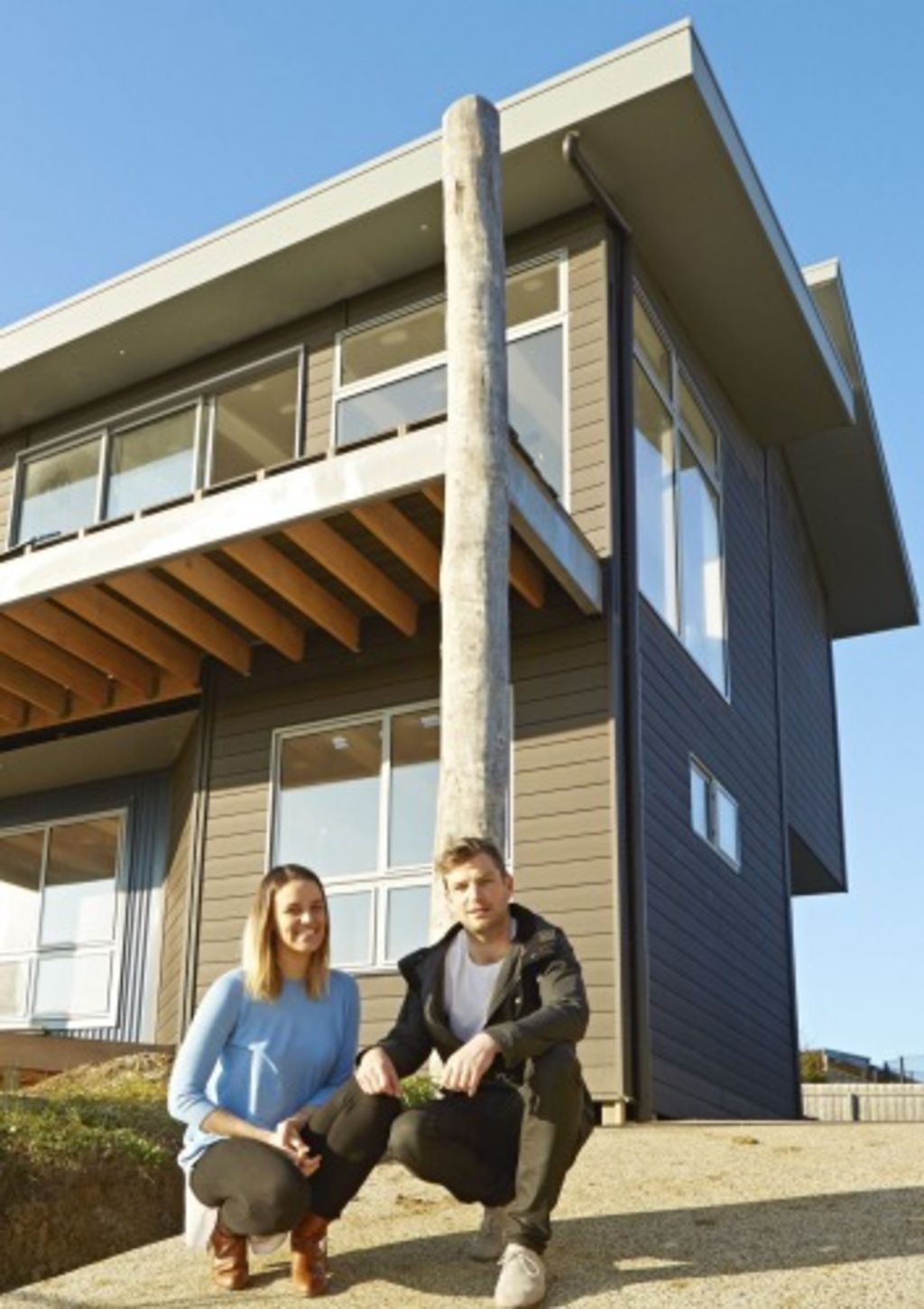 Sustainable: Kate Toholka and Tim Sonogan were determined to build their home to maximise sustainable living. Photo: Oliver Freeman