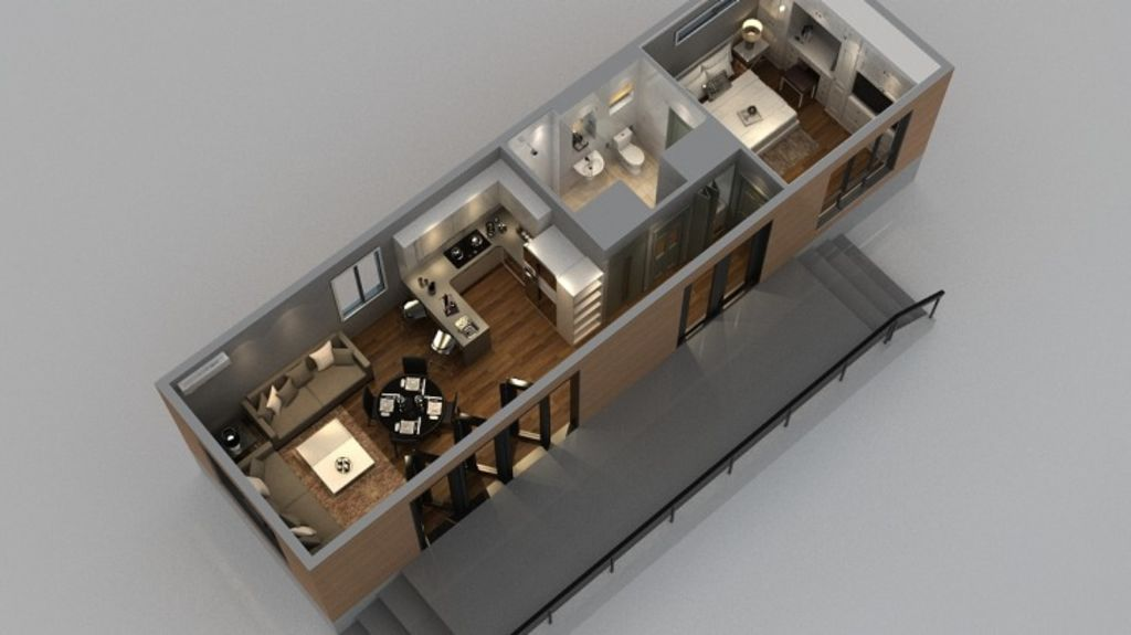 Home comforts: The buildings come with a number of options, including complete wiring and plumbing. Photo: Supplied