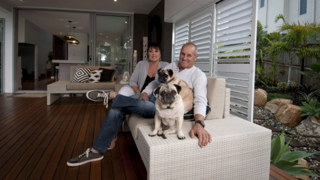 Steve and Lisa Downey have bought a three bedroom unit off the plan in Fortitude Valley's James Street precinct. Photo: Robert Shakespeare