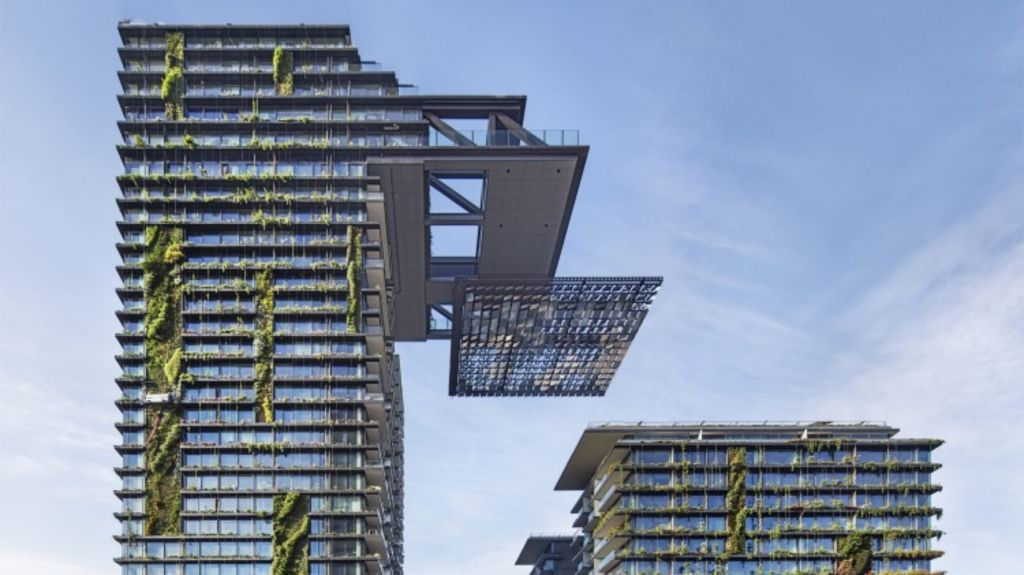 The cantilevered heliostat is a world-first for a residential building. Photo: Murray Fredericks