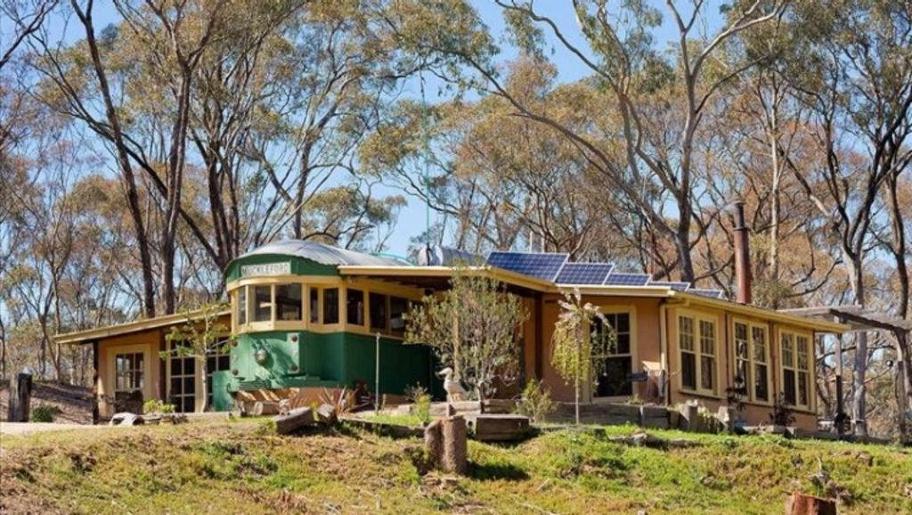 This Muckleford home has been fashioned around a W-class tram.