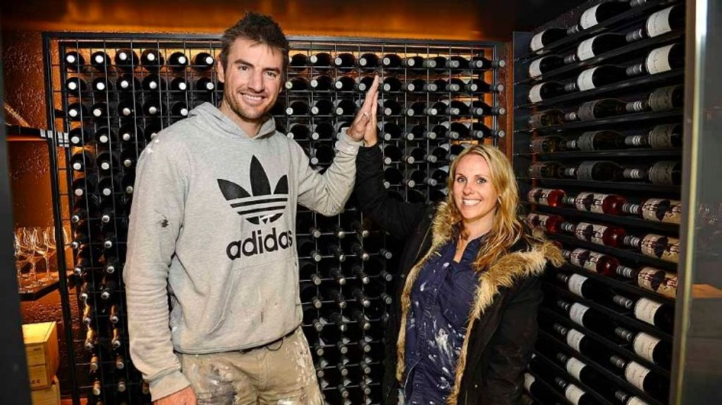 Melbourne couple Darren and Dea won the judges over with their wine cellar.