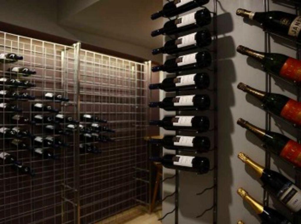 Jess and Ayden's wine cellar.