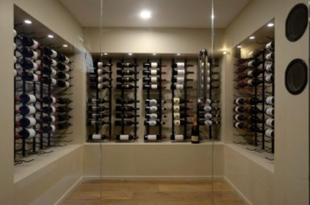Tim and Anastasia's wine cellar.