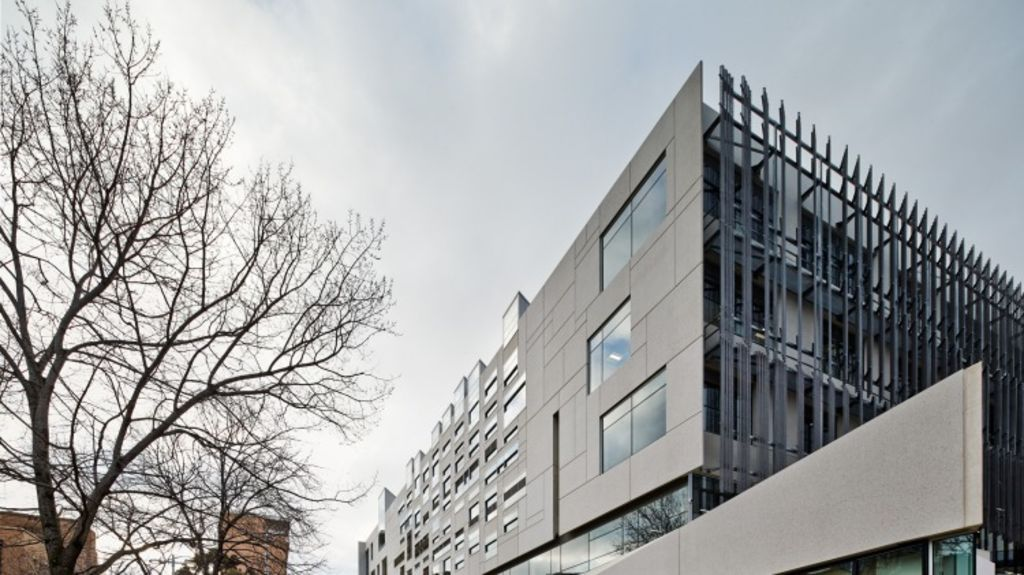 The new Melbourne School of Design cost $129 million. Photo: Peter Bennetts
