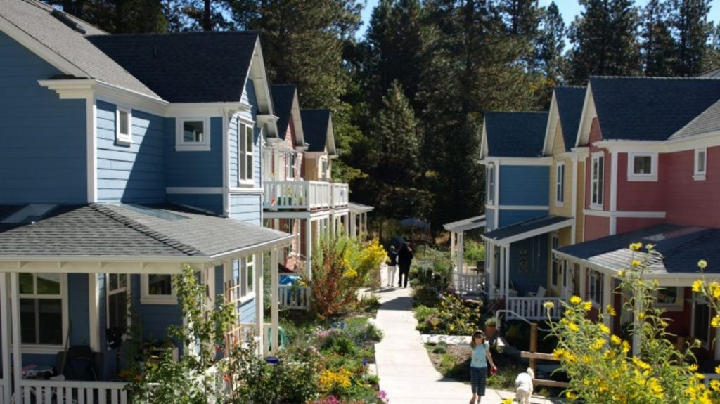 Nevada City Cohousing in the Sierra Foothills of California. Photo: CoHousing Solutions