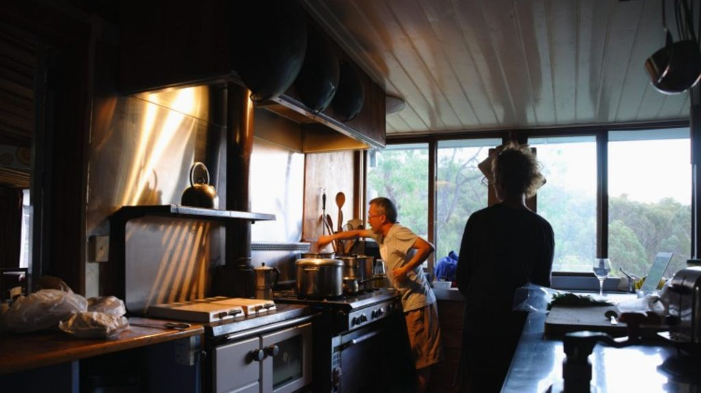 A kitchen in Commonground Co-operative near Seymour, Victoria, where Urban Coup members often retreat to. Photo: Supplied