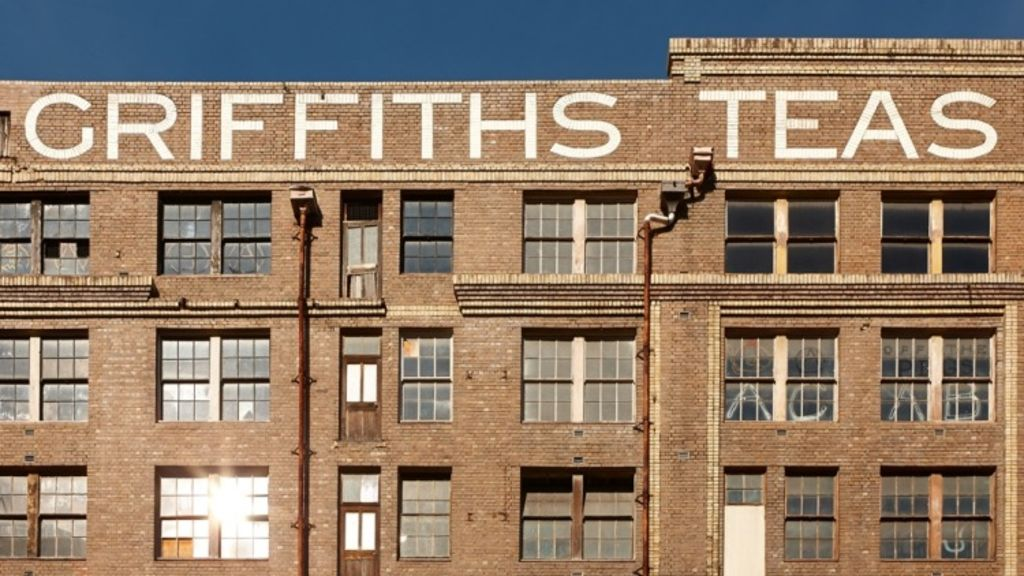 The iconic Griffiths Tea building.
