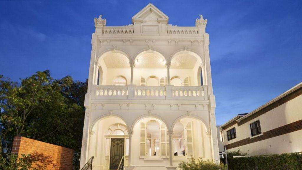 The impressive facade of 76 Tivoli Road, South Yarra