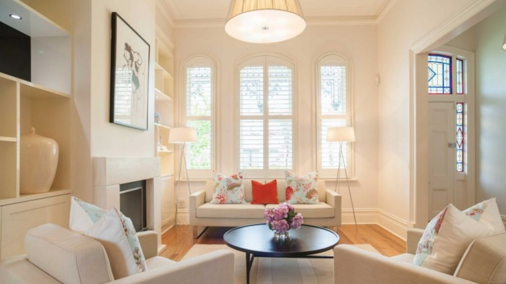 A warm white was used to freshen the look of this period home. Photo: The Real Estate Stylist