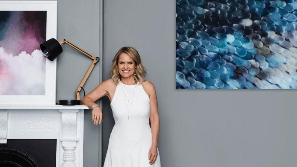 Shaynna Blaze with her artworks.