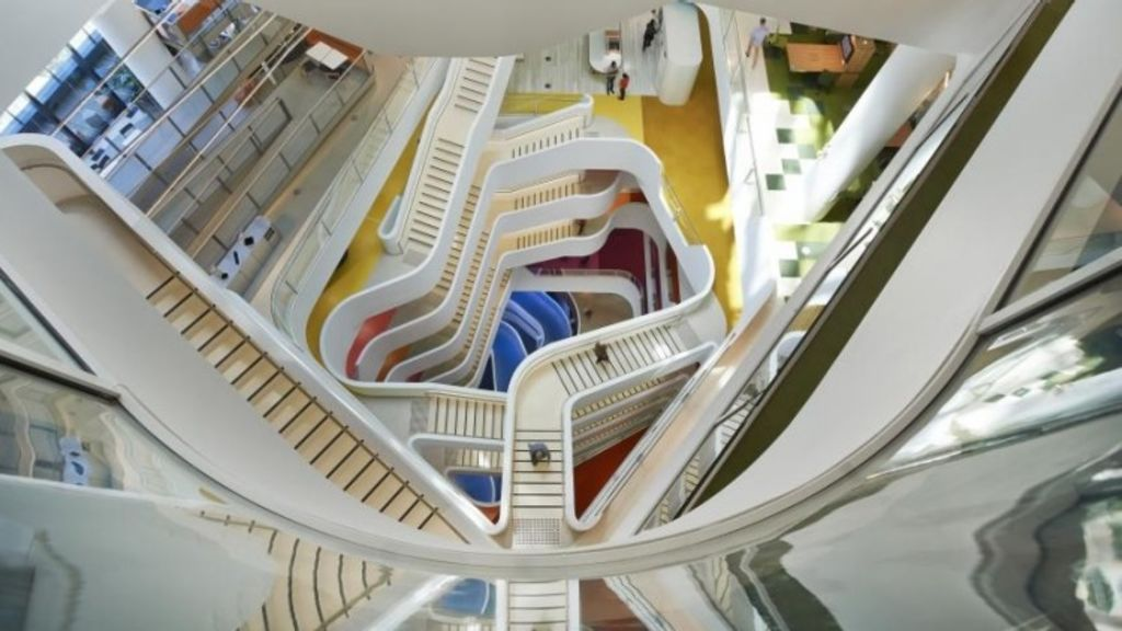 The colourful and innovative interior of Medibank's Melbourne office, by Hassell. Photo: INSIDE