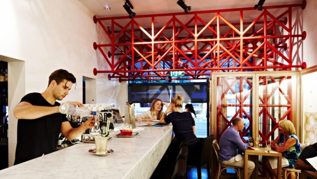 The bar at Cafe di Stasio. Photo: Mike Baker