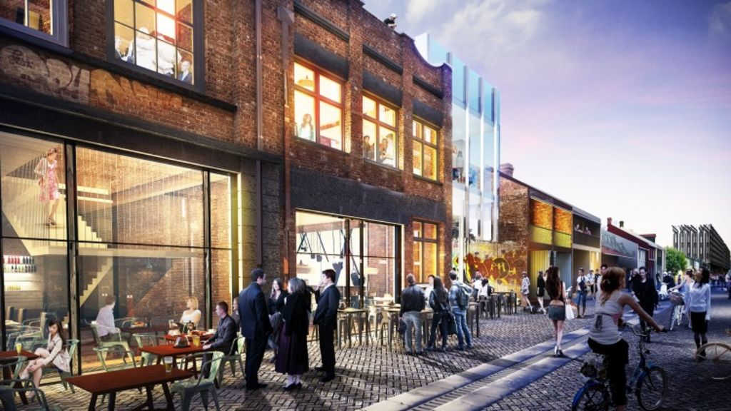 An artist's impression of Kensington Street at Central Park, which is set to become Sydney's newest leisure precinct.