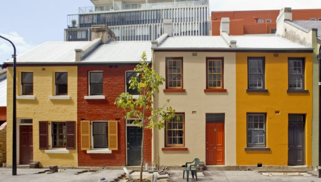 The precinct is also home to heritage-listed terraces from the 1840s, which have now been restored.