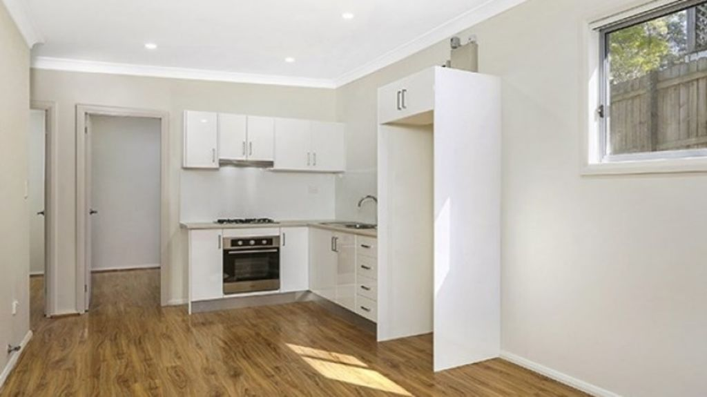 The Pymble granny flat is brand new, with parking for two cars, air conditioning and built in wardrobes. Photo: Supplied