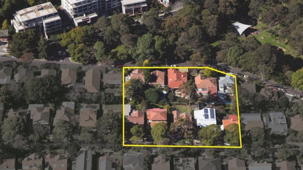Ten homeowners in St Leonards are hoping to be paid about $60 million together for their 6000-square-metre site on Canberra Avenue and Holdsworth Avenue. Photo: Supplied