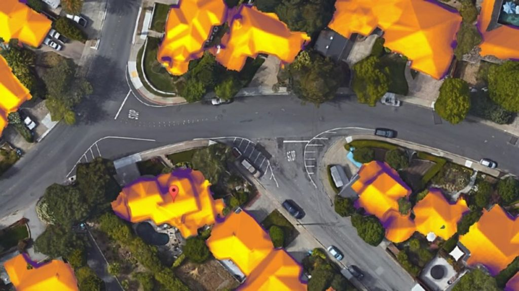A screenshot of Project Sunroof, Google's new tool that determines how much a household could save by converting to solar. Photo: Google