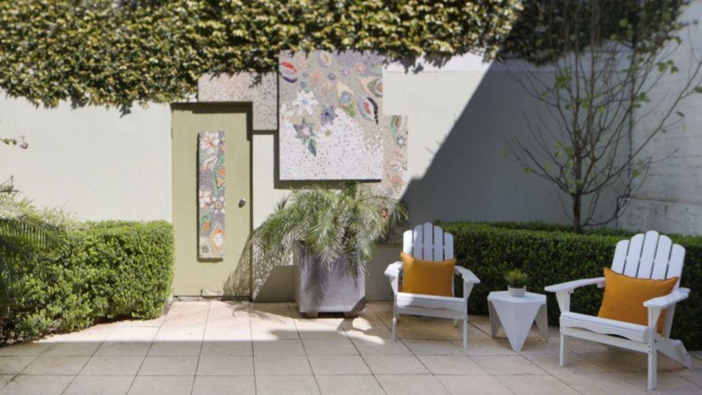 The courtyard of 1/10 Jarocin Avenue, Glebe. Photo: domain.com.au