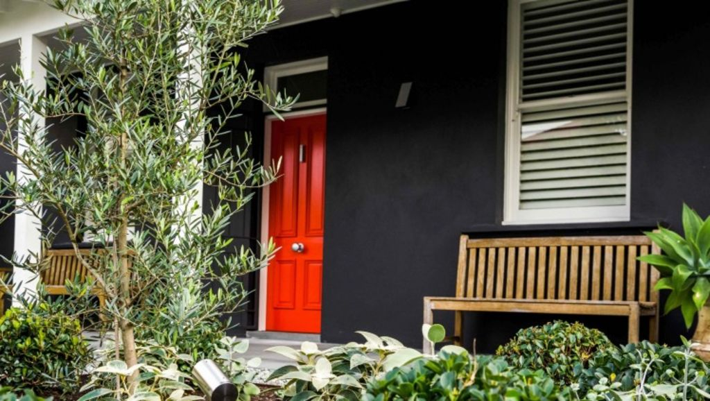 Coloured doors are a welcoming feature. Photo: Daniel Shipp