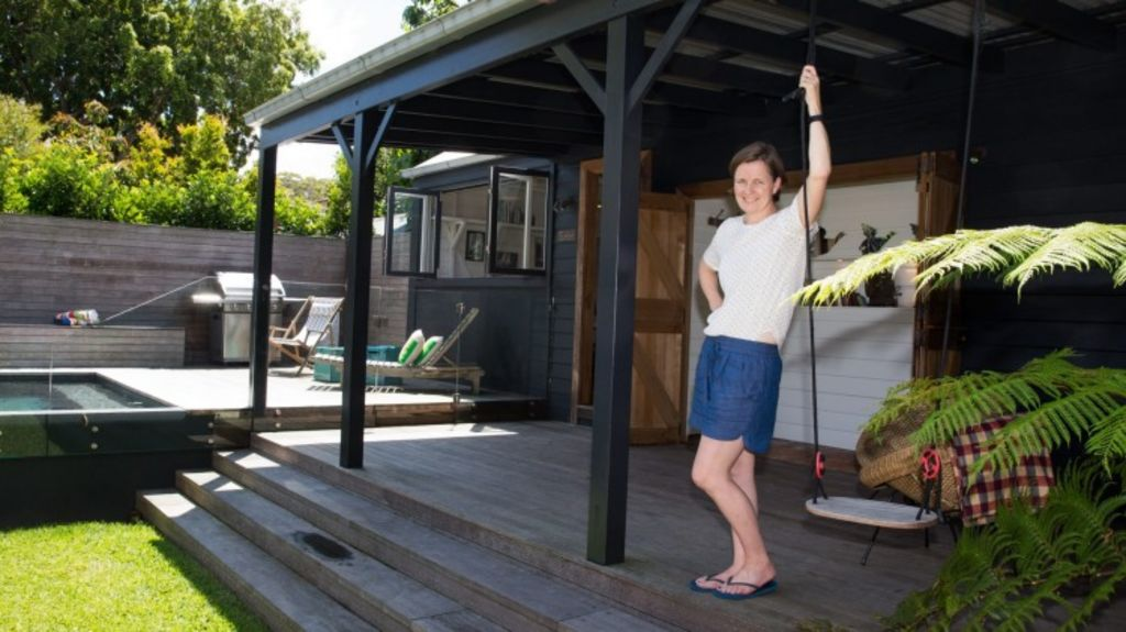 Penelope Roberts thinks her family's Randwick granny flat will be a drawcard for potential buyers. Photo: Edwina Pickles