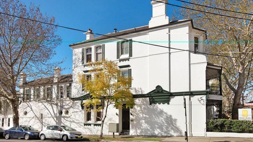 Playfair House at 2 Ridge Street, North Sydney, passed in on a bid of $2.85 million on Saturday Photo: domain.com.au