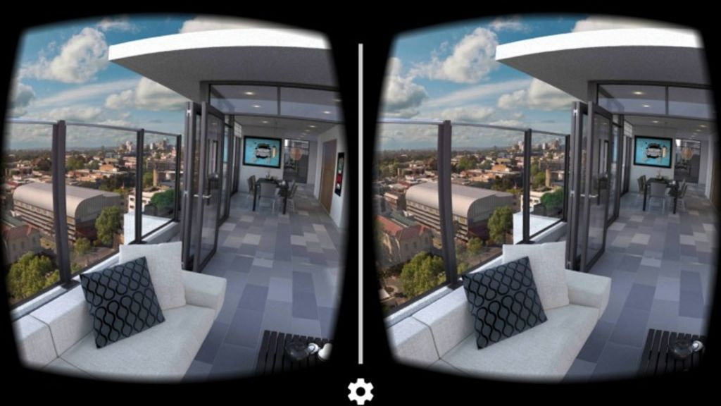 The virtual reality tour created by Start VR requires a cardboard headset and a downloaded app. Photo: Supplied