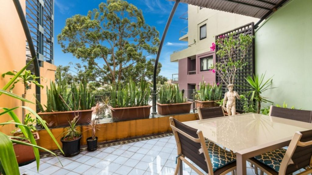 Views abound from this top-floor unit at 31/74 Jarrett Street, Leichhardt. Photo: Supplied