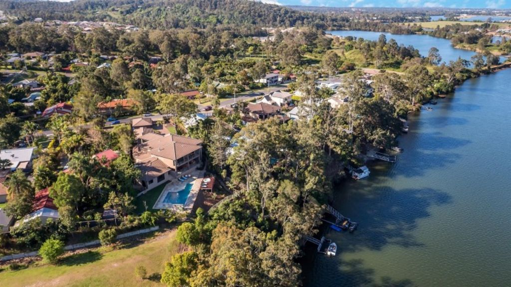 The property sits on the Coomera River. Photo: Supplied