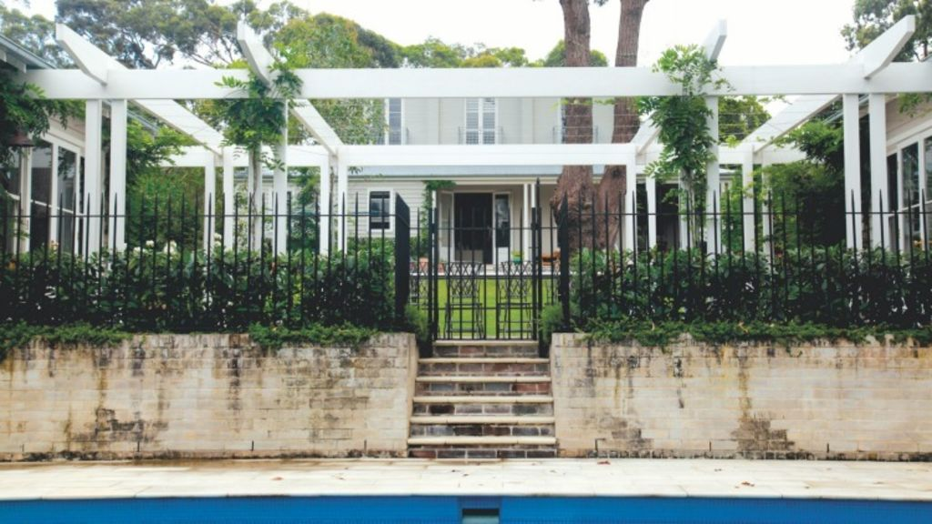 Lindfield rear from pool, transformed after the renovation. Photo: Harriet Morgan