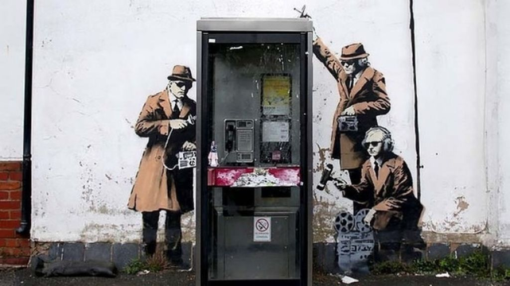 This $435,000 Banksy painting comes with the English cottage it's painted on. Photo: Getty Images